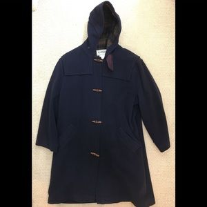 L.L. Bean Navy Blue Duffle Coat Women's XL